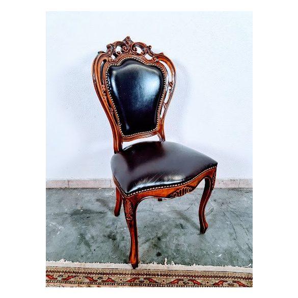 Barokk bőr szék