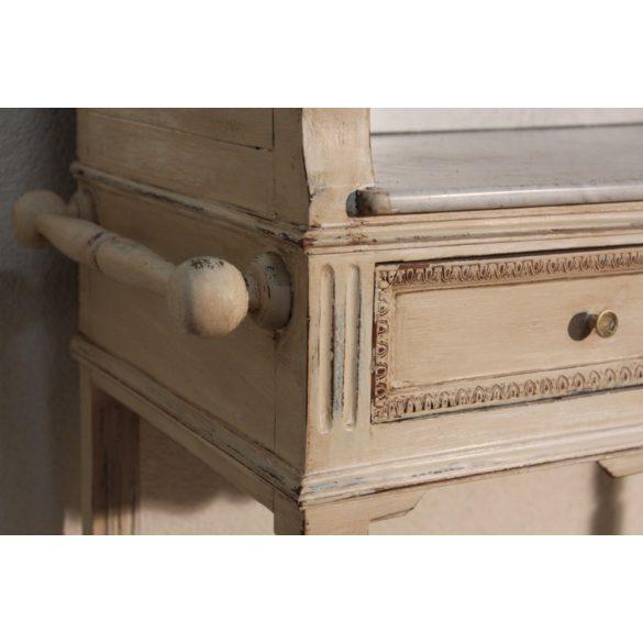 Antik ónémet, vintage,provance stílusban felújított mosdószekrény