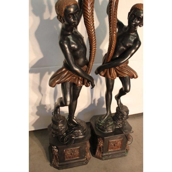 Régi blackmoor bronz lámpák párban
