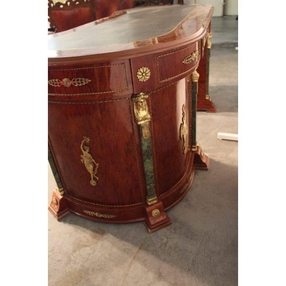 Rézveretes empire stílusú ,térbe állítható íróasztal