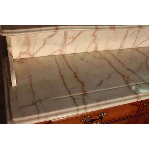 Gyönyörű márványlapos barokk mosdószekrény