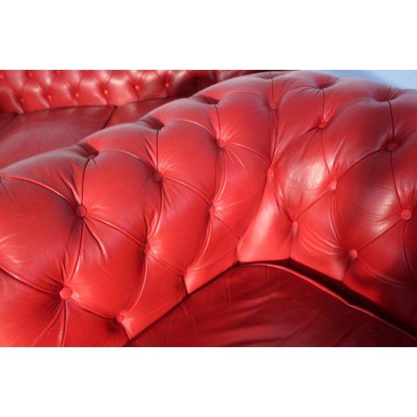 Ferrari piros színű chesterfield bőr ülőgarnitúra 3-1-1-1-1