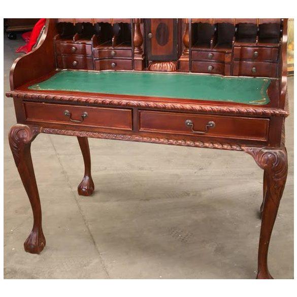 Tömör mahagóni,bőrlapos íróasztal