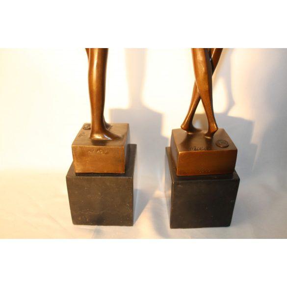 Art deco bronz szobrok