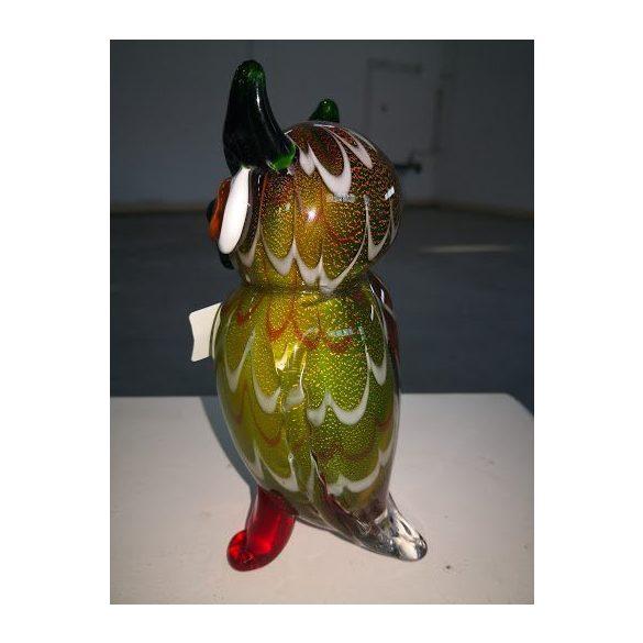 Gyönyörű muránói üveg bagoly