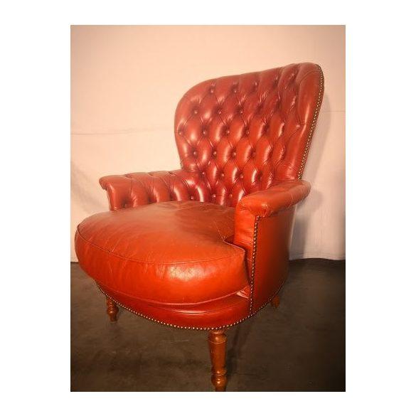 Chesterfiel bőr fotel