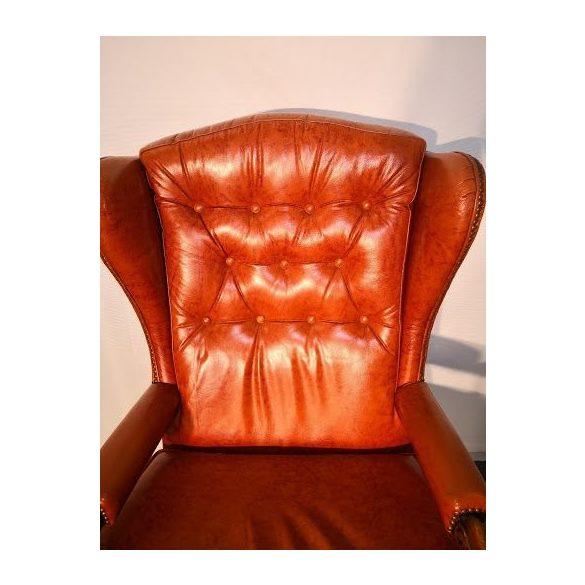 Chesterfiel füles bőr fotel