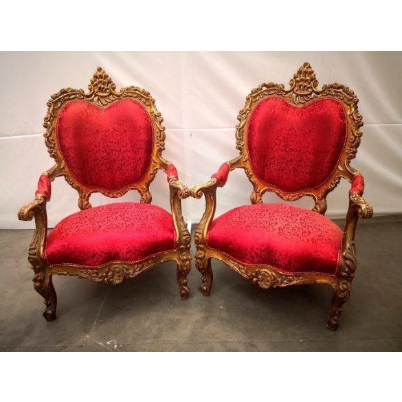Antik aranyozott királyi trónfotelek