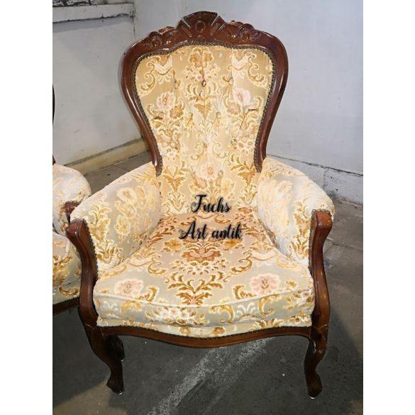 Neobarokk plüsskárpitos fotel