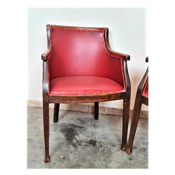 Angol bőr karfás székek (íróasztalhoz is)