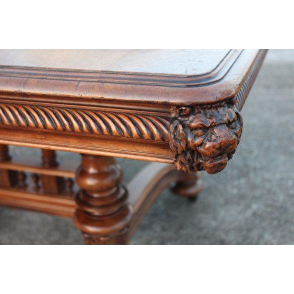 Antik ónémet,reneszánsz stílusú dúsan faragott hatalmas étkezőasztal 380cm!