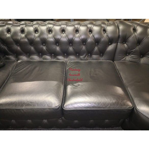 Eredeti chesterfield bőr, sarok ülőgarnitúra