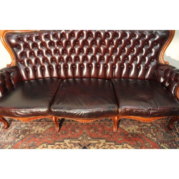 Chesterfield neobarokk bőr kanapé