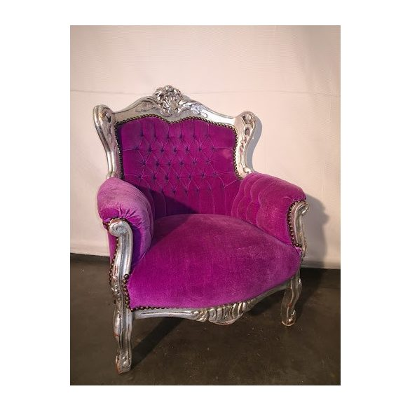 Faragott barokk stílusú stil fotel