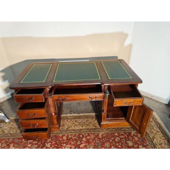 Chesterfield tömör fa íróasztal új!