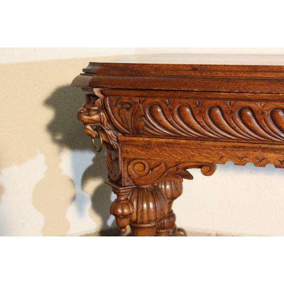Antik reneszénsz stílusú dúsan faragott asztal,íróasztal!