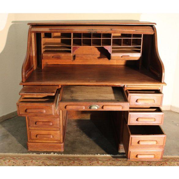 Antik angol redőnyös íróasztal