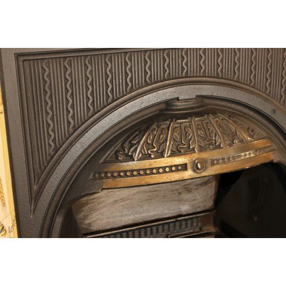 Különleges Angol antik öntöttvas kandalló