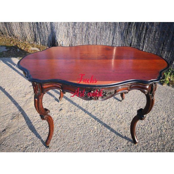 Antik barokk faragott étkezőasztal,szalonasztal