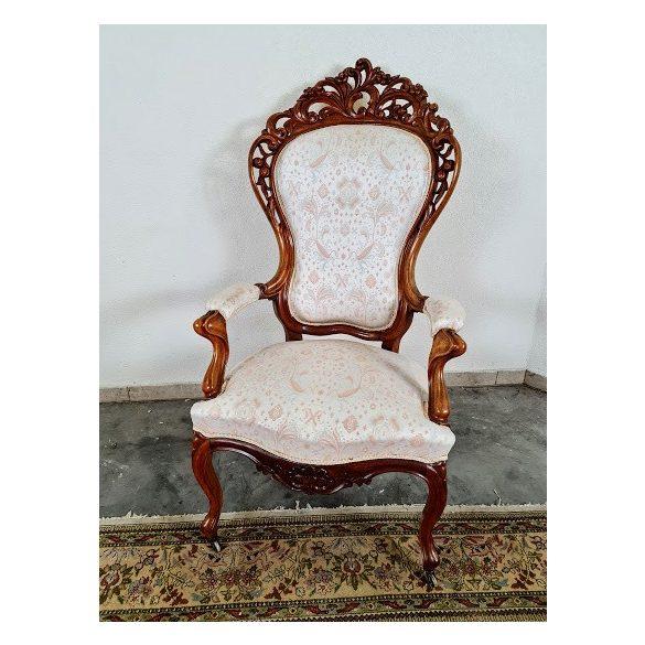 Gyönyörű antik barokk,dúsan faragott fotel
