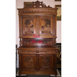 Antik reneszánsz stílusú tálalószekrény