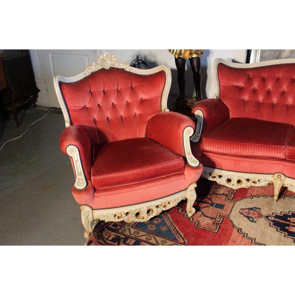 Barokk plüss ülőgarnitúra 3-1-1