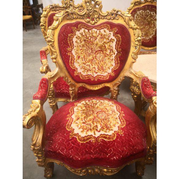 Faragott, barokk stílusú,aranyozott,királyi ülőgarnitúra