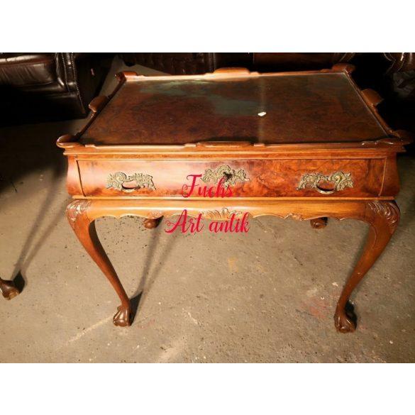 Körmöslábú neobarokk teázó,szervízasztal,kínálóasztal