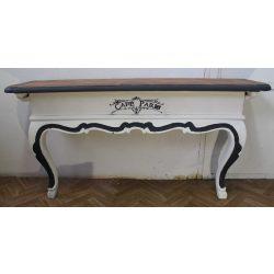 Vintage stílusú barokk konzolasztal
