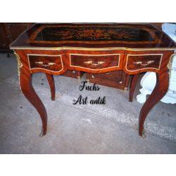 Rézveretes,intarziás, empire stílusú íróasztal