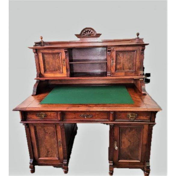 Antik felépítményes ónémet íróasztal