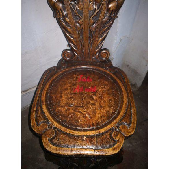 Nagyon régi,antik sgabello Olasz reneszánsz szék