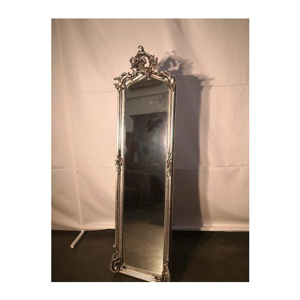 Ezüst színű barokk tükör