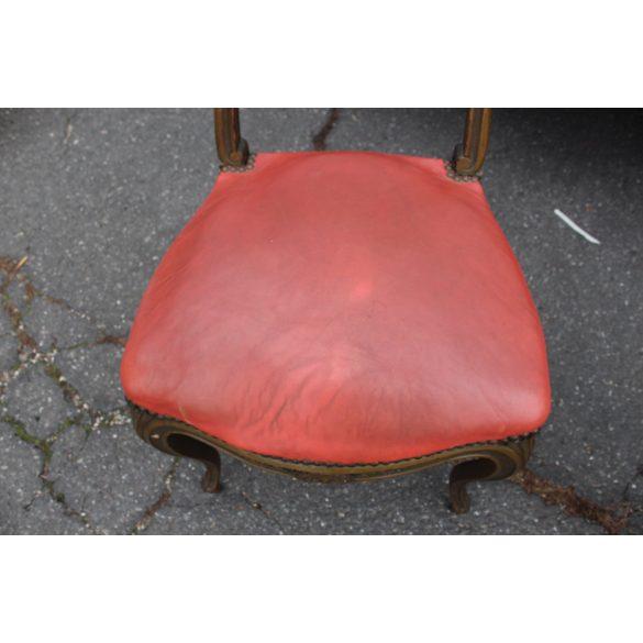 Antik Francia barokk bőr székek