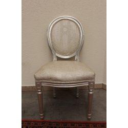 Kígyóbőr mintás ezüst szék