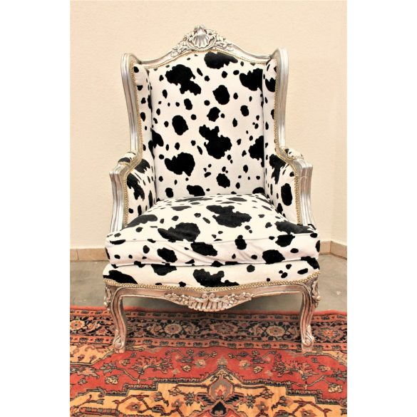 Boci mintás barokk stílusú fotel