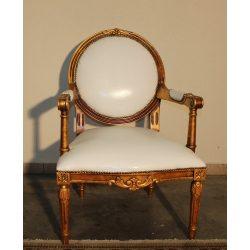 Aranyozott Francia barokk karfás szék