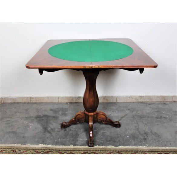 Antik biedermeier játékasztal,kártyaasztal