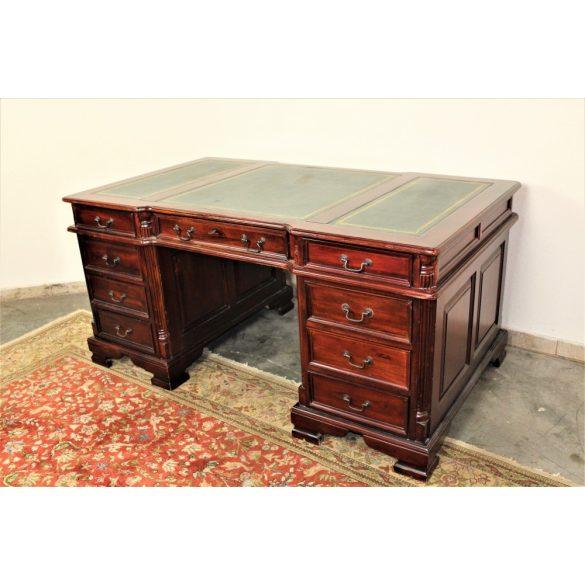 Chesterfield tömör mahagóni, térbe állítható íróasztal