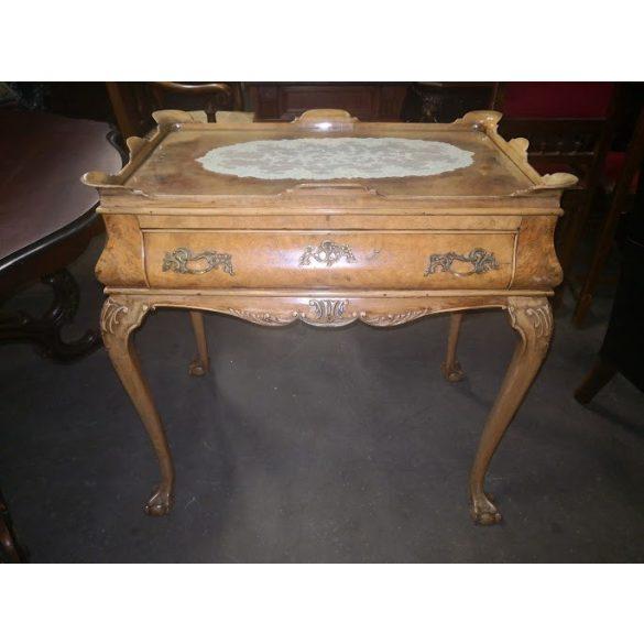 Antik neobarokk szervízasztal,teázó,kávézó asztal