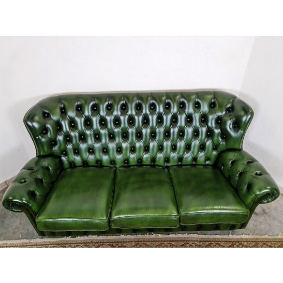 Eredeti chesterfield bőr kanapé