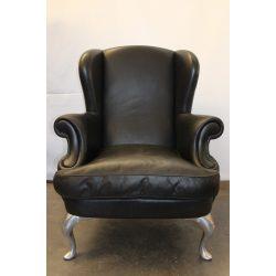Design füles bőr fotel