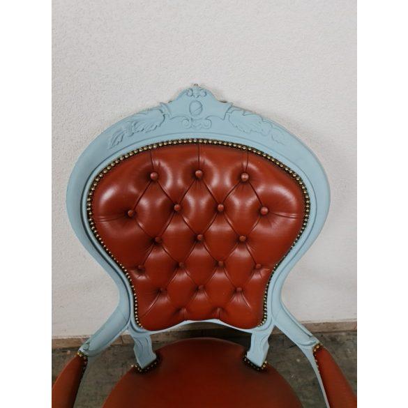 Vintage bőr karfás szék