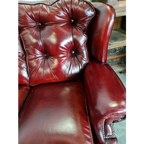 Eredeti chesterfield bőr ülőgarnitúra 3-2
