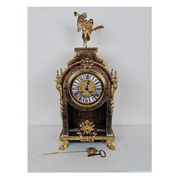 Gyönyörű antik restaurált Francia Boulle kastély óra