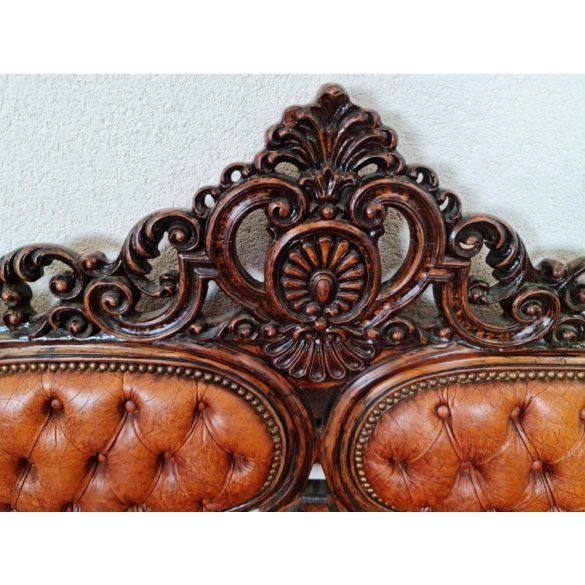 Csodaszép antik barokk bőr kanapé