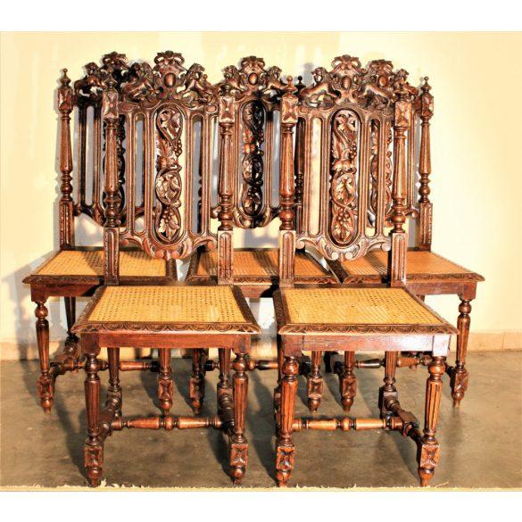 Dúsan faragott,reneszánsz stílusú székek
