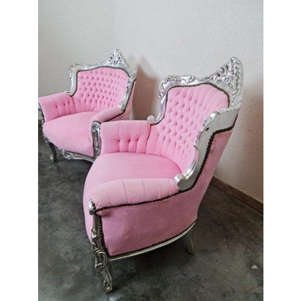 Neobarokk design rózsaszín fotel