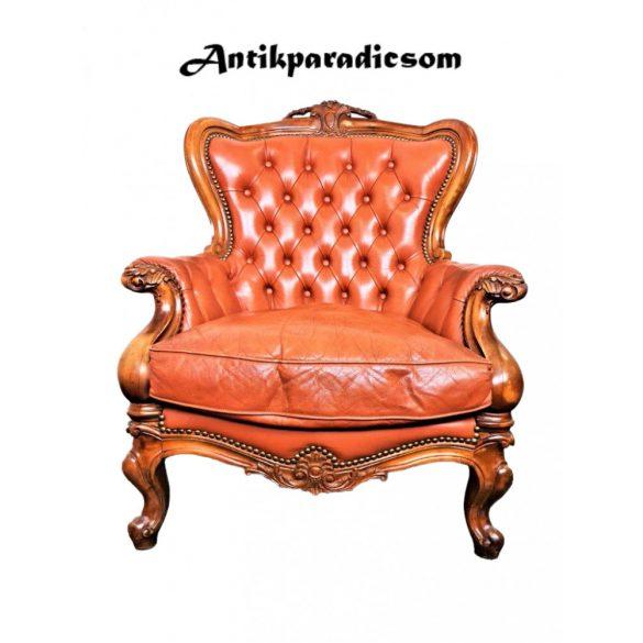Neobarokk bőr fotel