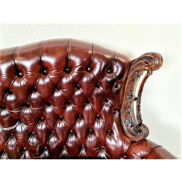 Antik barokk bőr kanapé